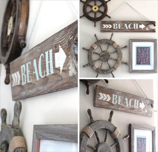 reclaimed beach signs