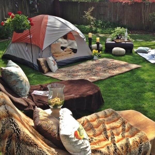 Low budget camping in your backyard