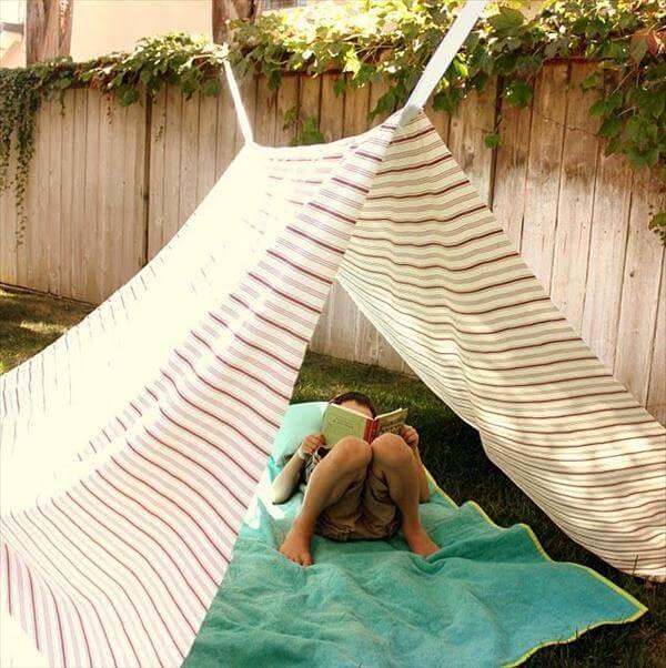 DIY teepee for kids