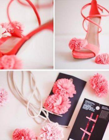 diy flower heels tutorial