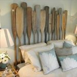 recycled boat oars headboard