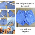 DIY High-Waisted Vintage Shorts