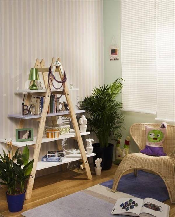 20 Diy Ladder Shelf Ideas Creative Ways To Reuse Old Ladder