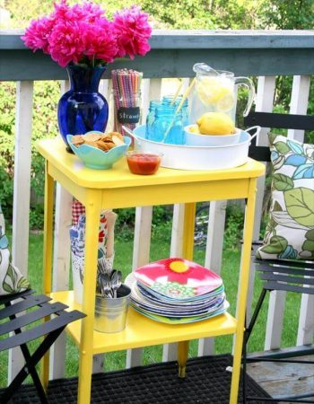 diy outdoor table for summer