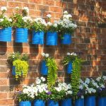 DIY Recycled Tin Can Wall Container Garden