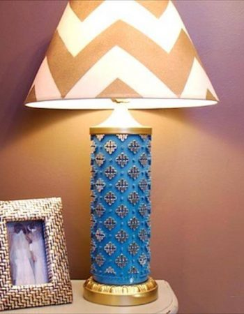 diy sprayed lamp idea