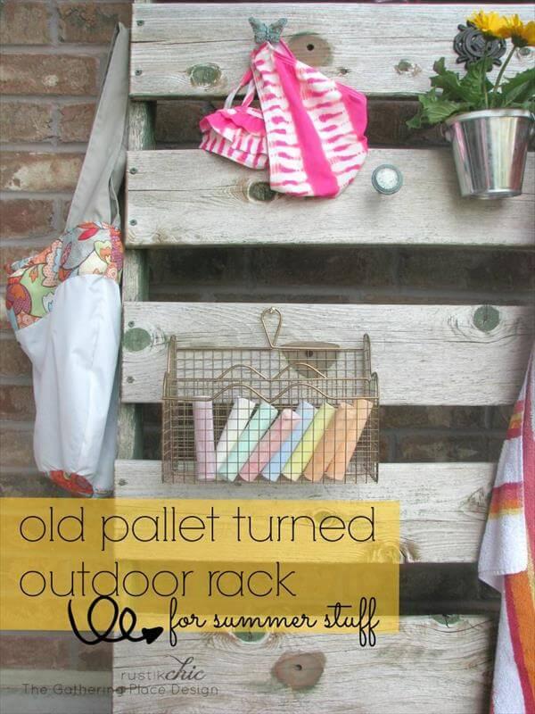 reclaimed pallet rack
