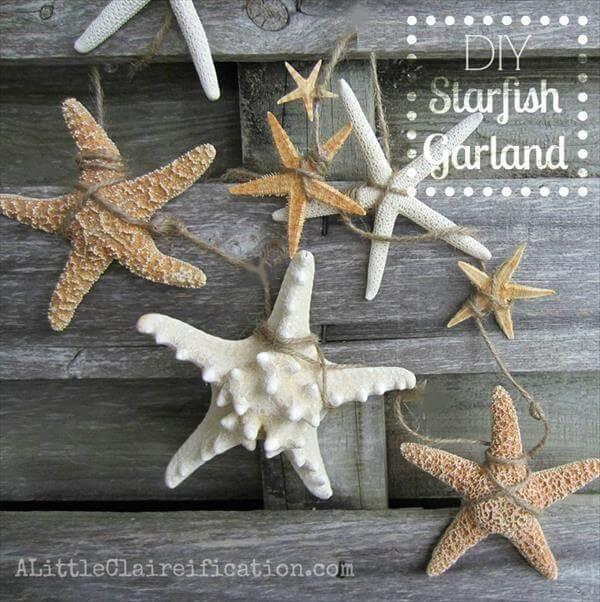 repurposed starfish garland