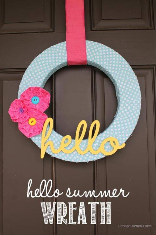upcycled wall wreath