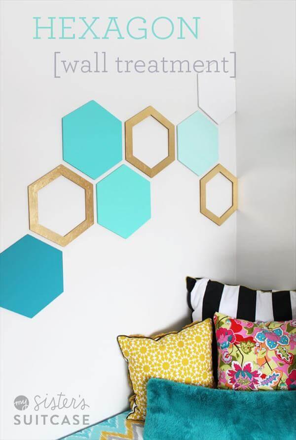 wall hexagon pattern decoration