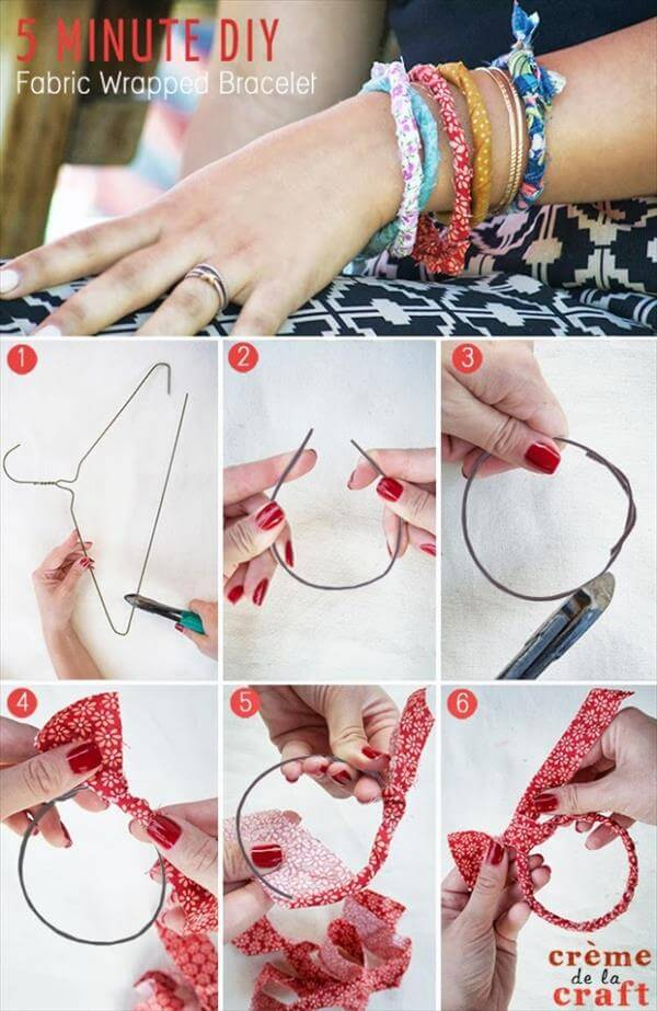5 Minute DIY | Fabric Wrapped Bracelets