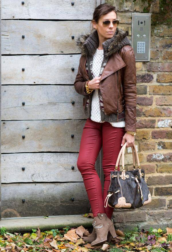 modern brown jacket for woman