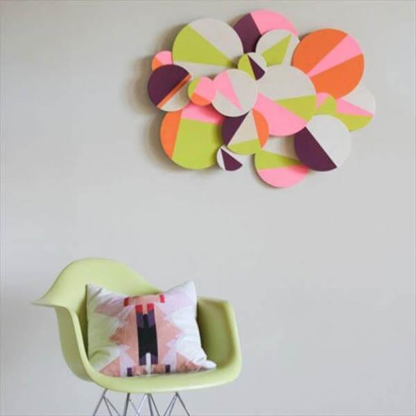 diy handmade colorblock wall art