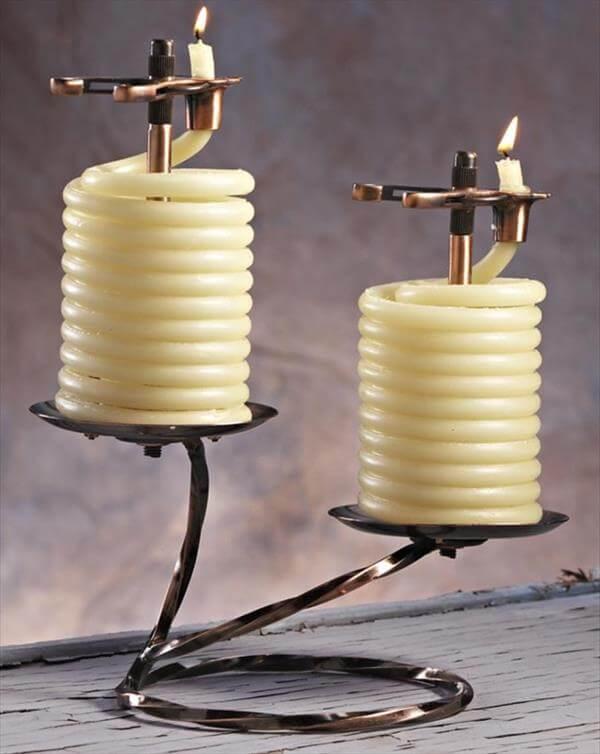 diy creative beeswax candles