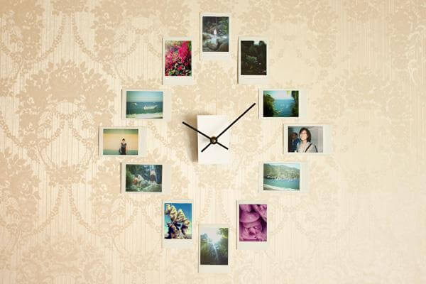 diy creative clock with framed pictures