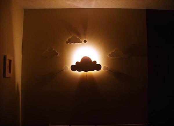 diy handmade cloud light