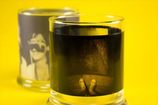 diy homemade funky film candle holder