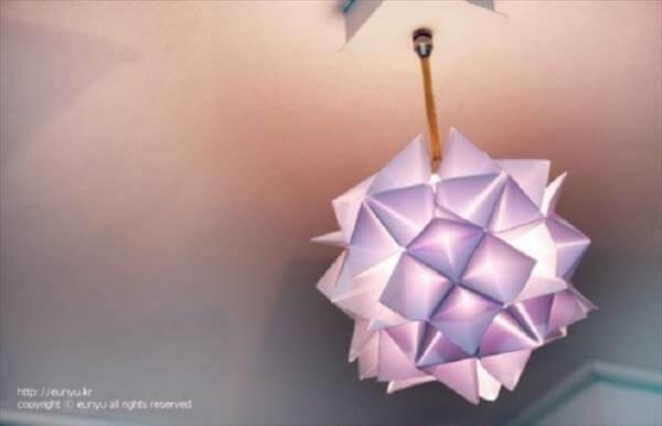 diy handmade paper lamp