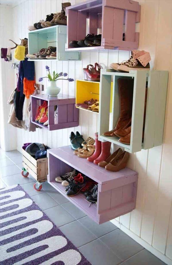 diy unique crate shelves