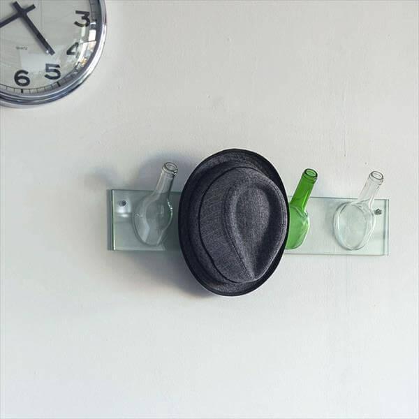 diy bottle knobs hanger