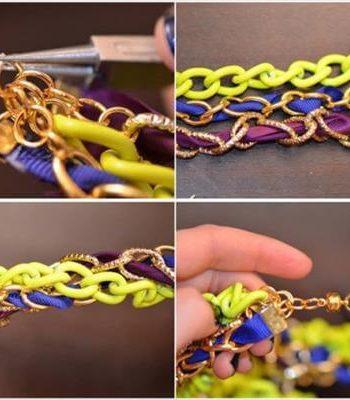 diy inventive ribbon necklace