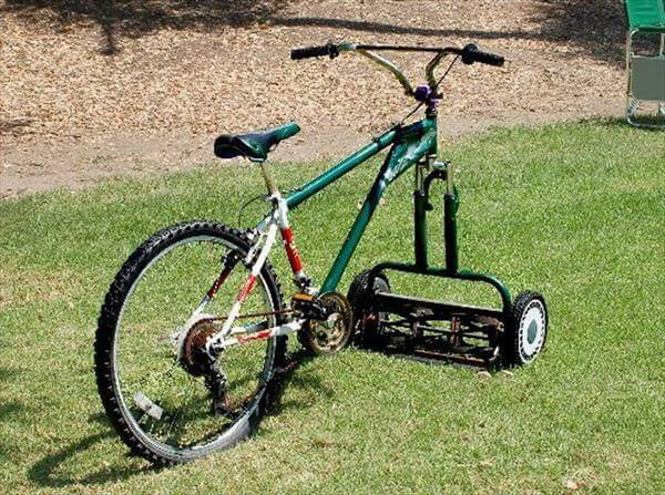 diy creative cycle grass cutter