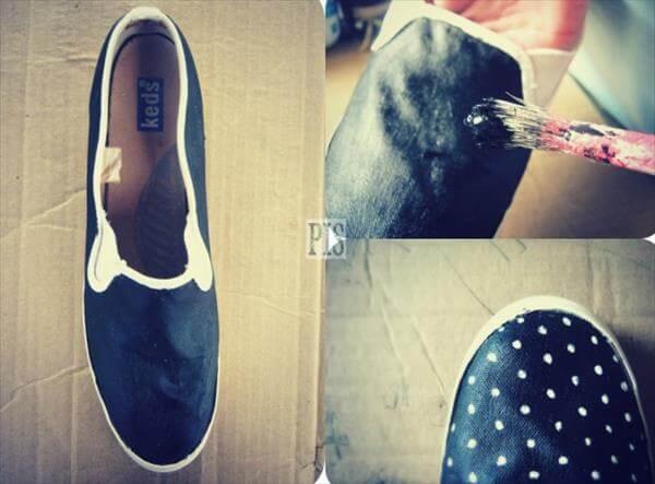 diy self made dot sneakers