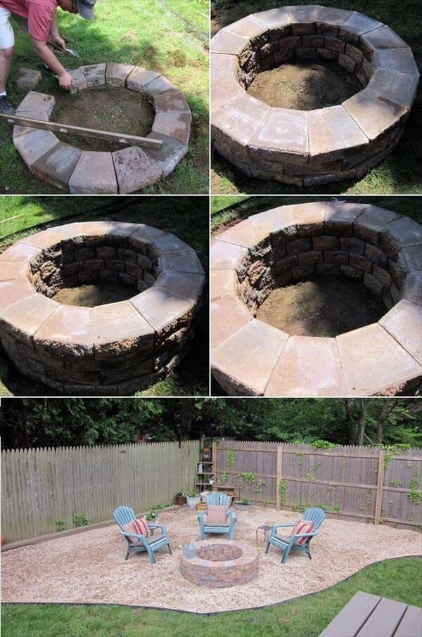 diy garden fire pit makeover