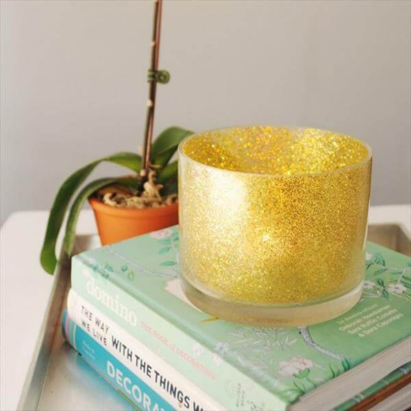diy homely produced glitter candle holder