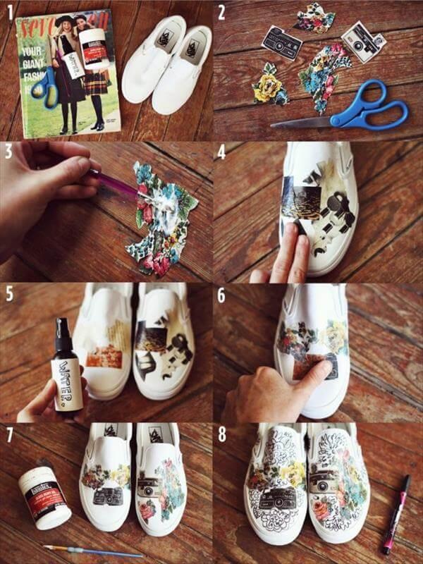 diy self painted sneakers