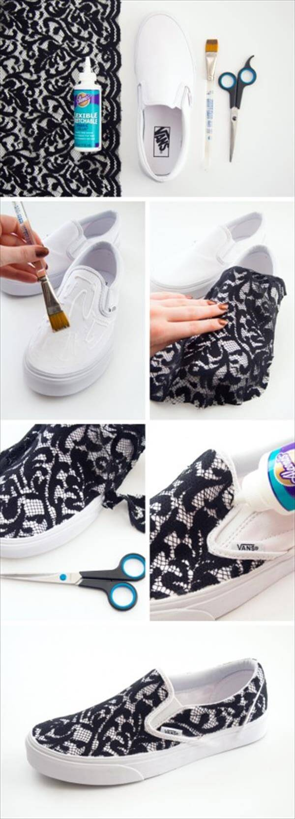 diy lace sneakers idea