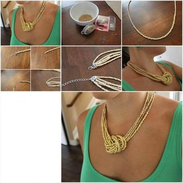 diy homely prepared necklace