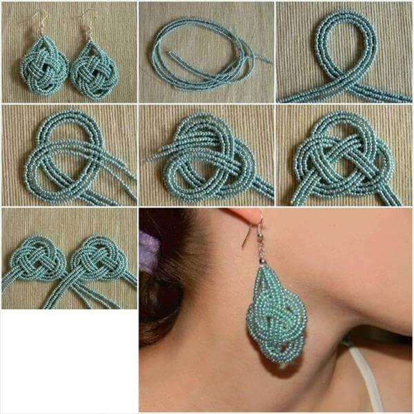 diy self made earrings