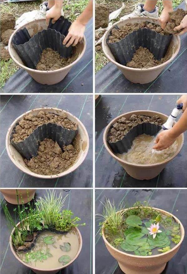 self made creative tiny garden