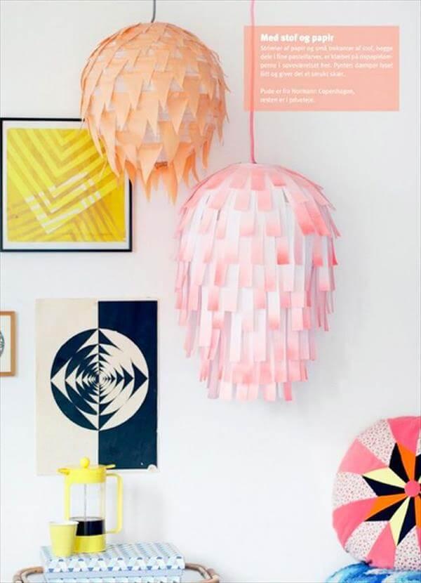 diy creative paper lamp