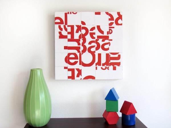diy creative junk wall art