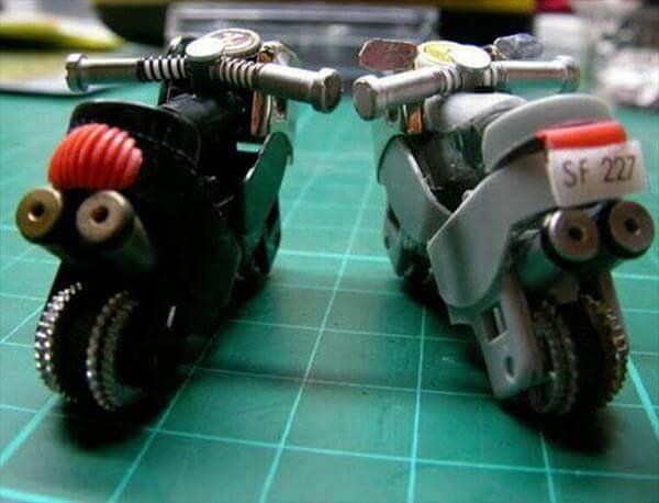 self created mini lighter bikes