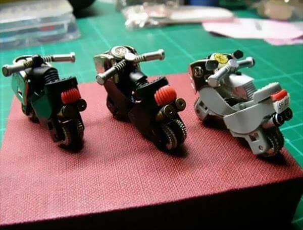 handmade mini lighter bikes