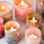 diy hand painted candle holders