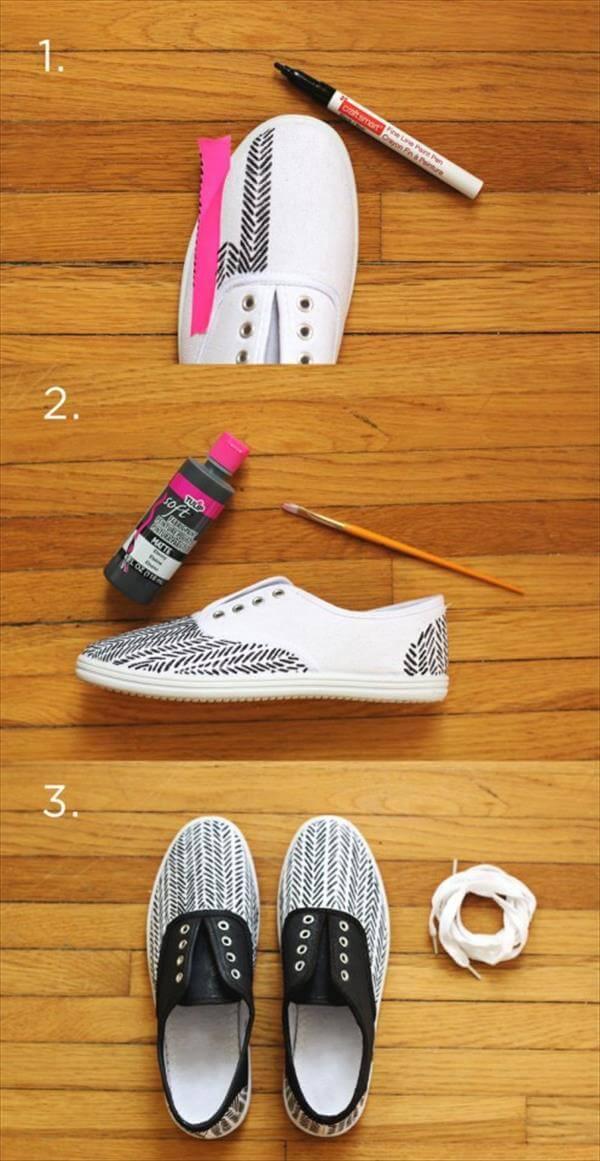 diy hand painted sneakers