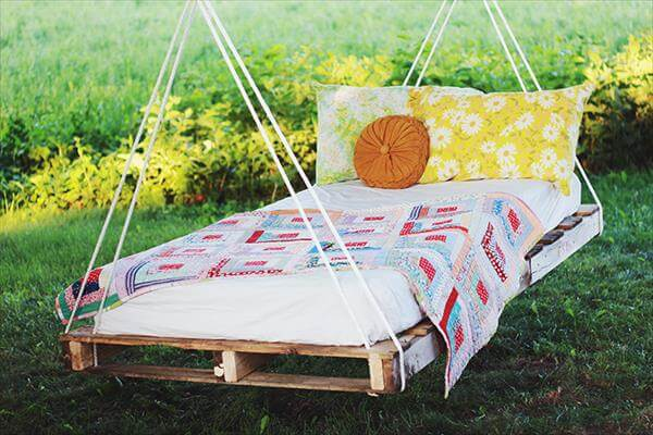 recycled pallet bed swing
