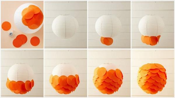 diy lamp idea from petal paper