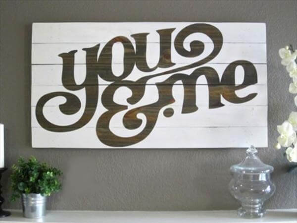 diy love quote wall sign