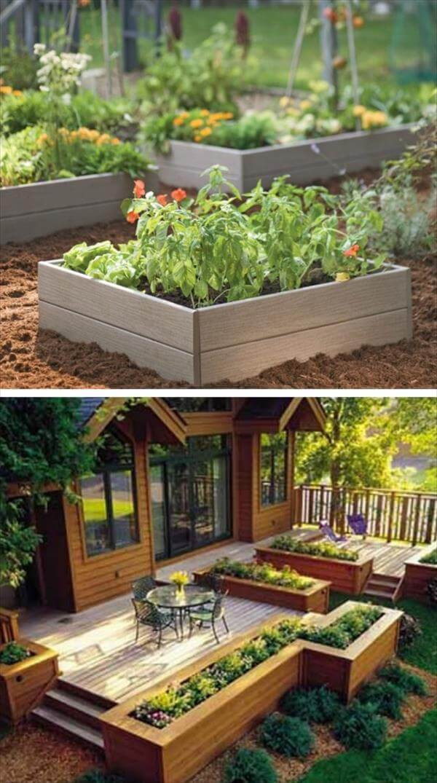 diy wooden raised garden plan