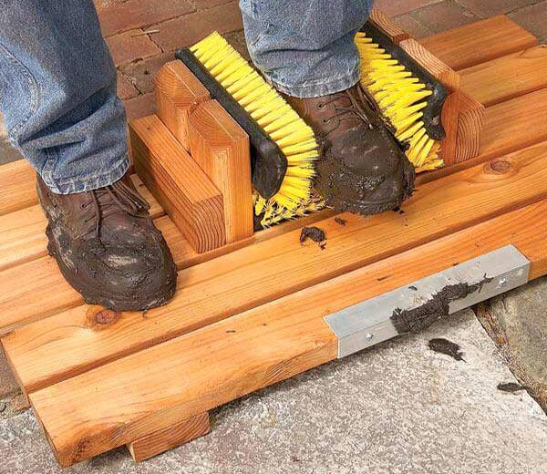 diy reclaimed wood shoes cleaner