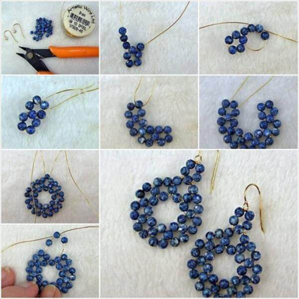 diy homemade pearl earrings