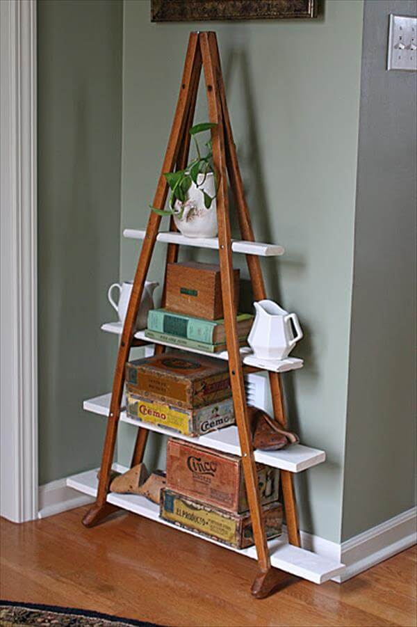 diy walking sticks shelf idea