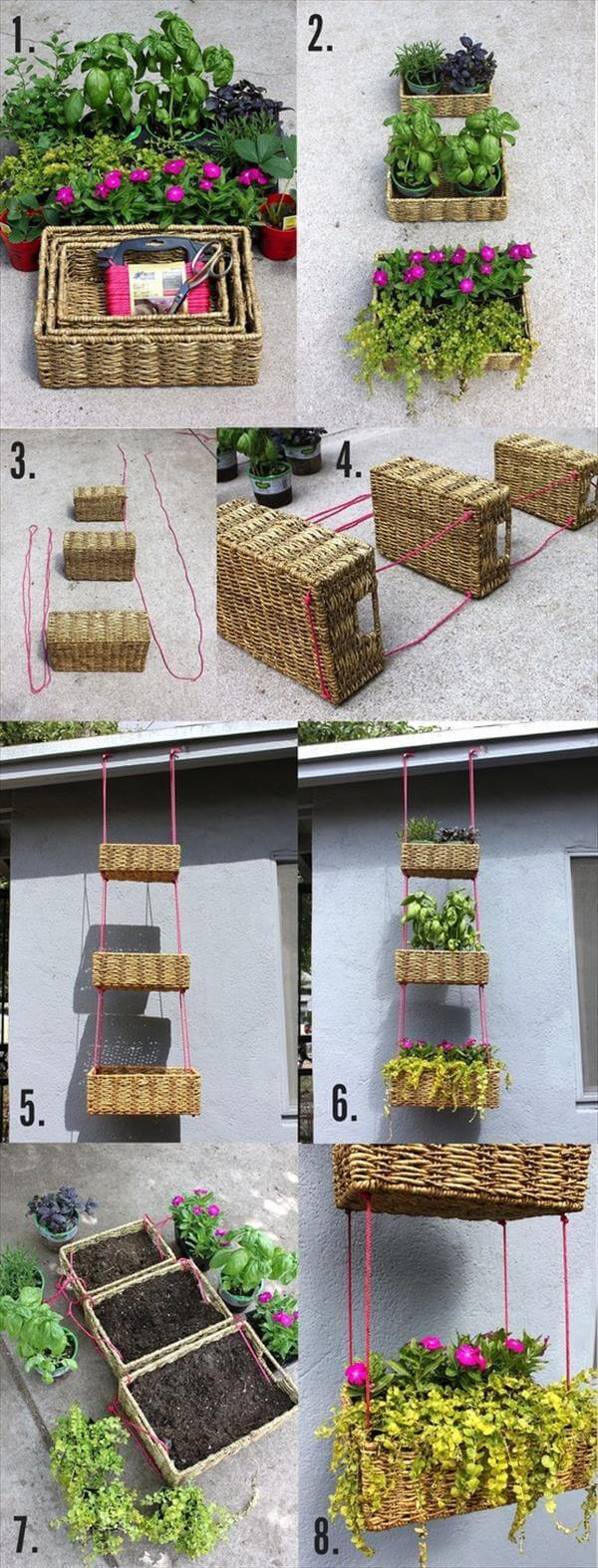 diy hanging basket garden