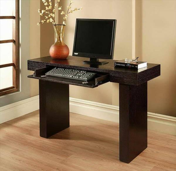 diy repurposed computer desk