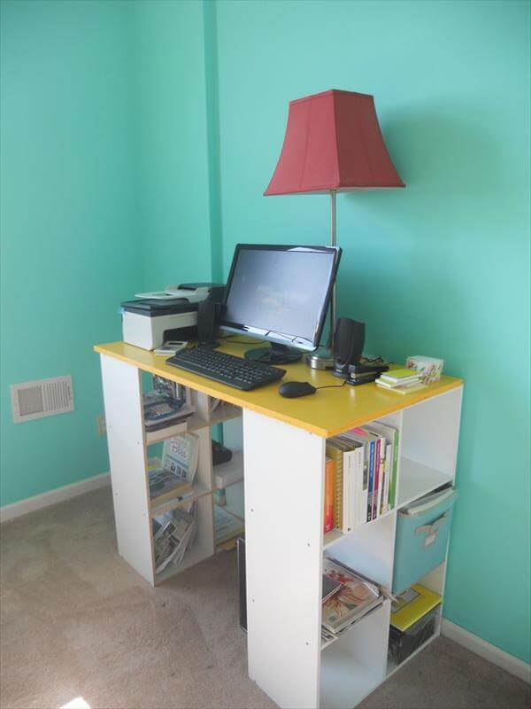handmade diy computer desk